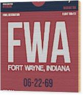 Fwa Fort Wayne Luggage Tag II Wood Print