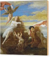 Galatea And Polyphemus  Wood Print