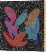Galaxies Merging Wood Print
