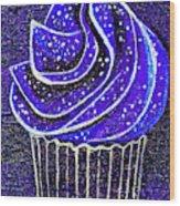 Galactic Universe Cupcake Wood Print