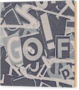 Game Of Golf Wood Print