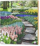 Garden Flowers  53 Xxxl Wood Print