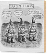 Garden Trolls Wood Print