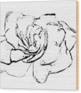 Gardenia Paint My Sketch Wood Print