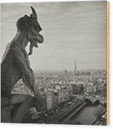 Gargoyle Of Notre Dame Wood Print