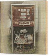 Gas Pump - Everett Corner Store Wood Print