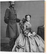 General Custer And His Wife Libbie Wood Print