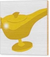 Genie Magic Lamp Wood Print