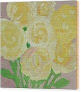 Gentle Yellow Bouquet Wood Print
