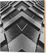 Geometric Night  Wood Print