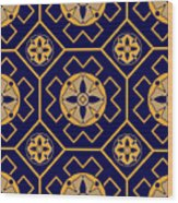 Geometric Seamless Pattern Wood Print