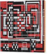 Geometric Stylization 2 Wood Print