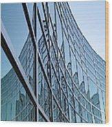 Geometrical Office Space Wood Print