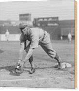 George Sisler Catching Ball @ Base Wood Print