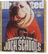 Georgia Bulldogs Mascot Uga V Sports Illustrated Cover Wood Print