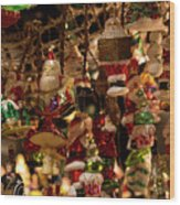 German Christmas Ornaments Wood Print