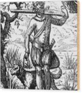 German Falconer, 16th Century Wood Print