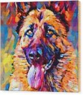 German Shepherd 11 Wood Print