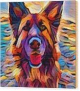 German Shepherd 8 Wood Print