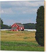 Red Barn On Sherfy Farm Gettysburg Wood Print