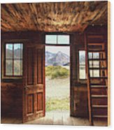 Ghost Town Cabin Wood Print