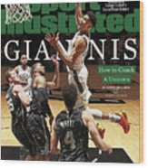 Giannis How To Coach A Unicorn Sports Illustrated Cover Wood Print