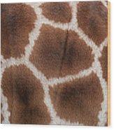 Giraffes Skin Texture Wood Print