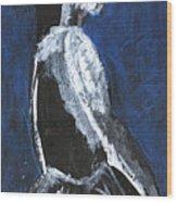 Girl In A Dress Wood Print