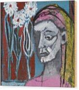 Girl In Pink Wood Print