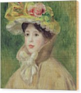 Girl With Yellow Cape, 1901 Wood Print