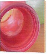 Glass Abstract 719 Wood Print