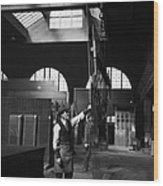 Glass Factory Wood Print