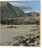 Glassilaun Beach Connemara Wood Print