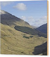 glen in highlands known as  the Rest and be Thankful Wood Print