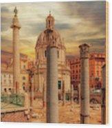 Glories Past And Present,  Rome Wood Print