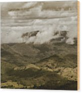 Glorious Cloud Cover Wood Print