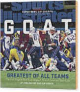 G.o.a.t Greatest Of All Teams Sports Illustrated Cover Wood Print