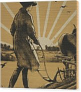 God Speed The Plough And The Woman Who Drives It Wood Print