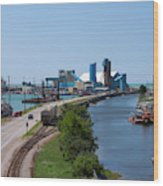 Goderich Harbour And Maitland Valley Marina Wood Print