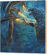 Godzilla II Rei Dos Monstros Wood Print