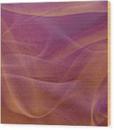 Gold And Lavendar Flowing Light Wood Print