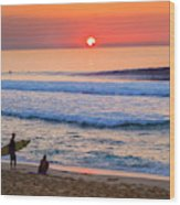 Gold Cup Sunset Wood Print