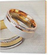 Gold Wedding Ring  Wood Print