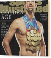 Golden Age Michael Phelps Sports Illustrated Cover Wood Print