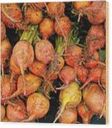 Golden Beets At A Farmers Market Wood Print
