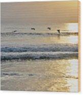 Golden Daybreak Wood Print