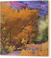 Golden Days Wood Print