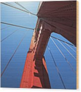 Golden Gate Bridge Tower Wood Print