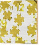 Golden Gauge Wood Print