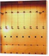 Golden Glass Doors Wood Print